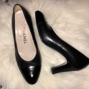Chanel Cap Toe Black Pumps Size 36